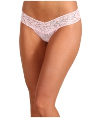 Hanky Panky Bridesmaid Low Rise Bridal Party Thong Bliss Pink Clear Women's Underwear