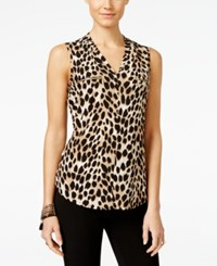 Inc International Concepts Printed Zip Pocket Top Only At Macy's Ombre Cheetah
