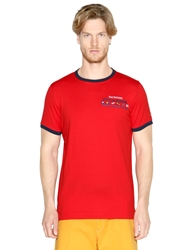 Paul And Shark Embroidered Cotton Jersey T Shirt