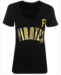 5Th And Ocean Women's Pittsburgh Pirates Outfield T Shirt Black