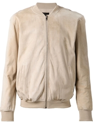 Atm Suede Bomber Jacket Nude And Neutrals