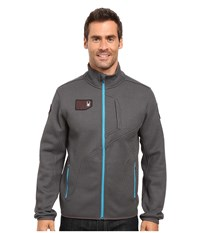 Spyder Wengen Full Zip Mid Weight Core Sweater Polar Electric Blue Men's Sweater Gray
