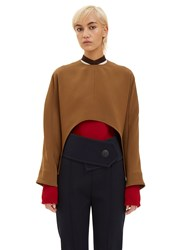 Marni Oversized Cut Out Top Brown