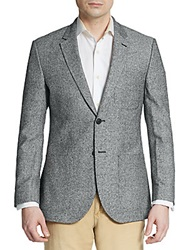 English Laundry Regular Fit Tweed Silk Sportcoat Black