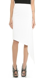 Nicholas Asymmetrical Fold Skirt White