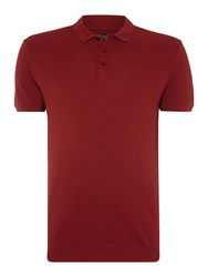 Armani Jeans Regular Fit Short Sleeve Logo Polo Shirt Bordeaux