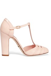 Dolce And Gabbana Patent Leather T Bar Pumps Pink