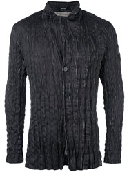 Issey Miyake Men Fitted Shirt Jacket Black