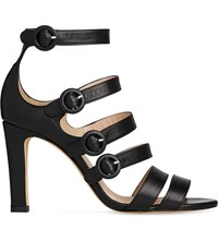 Lk Bennett Celeste Strappy Leather Sandals Bla Black