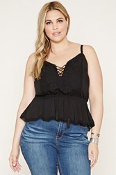 Forever 21 Plus Size Lace Up Cami