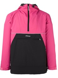 Stussy Reflective Sports Pullover Pink And Purple
