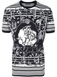 Dolce And Gabbana Western Print T Shirt Black