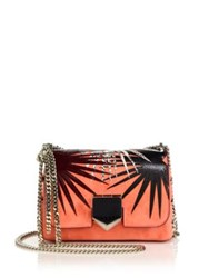Jimmy Choo Lockett Starburst Suede Snakeskin And Leather Crossbody Bag Coral