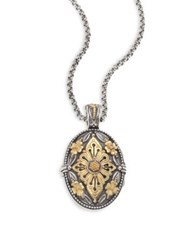 Konstantino Hebe Engraved 18K Yellow Gold And Sterling Silver Pendant Silver Gold