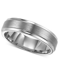 Triton Men's Tungsten Carbide Ring 6Mm Comfort Fit Wedding Band