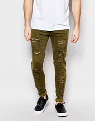 Other Uk Skinny Jeans With Distressing Green