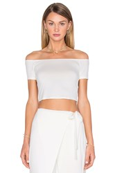 House Of Harlow X Revolve Lola Off The Shoulder Crop Ivory