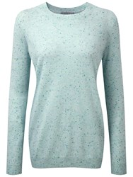 Pure Collection Eva Cashmere Boyfriend Sweater Opal Fleck