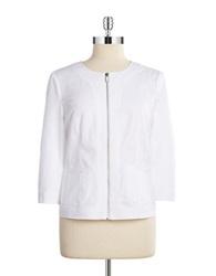 Rafaella Three Quarter Sleeved Jacket White