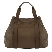 John Lewis Kin By Helen Leather Tote Bag Olive