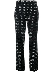 Givenchy Printed Straight Leg Trousers Black
