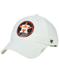 '47 Brand Women's Houston Astros Adjustable Clean Up Cap White