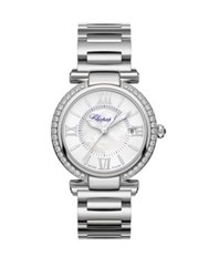 Chopard Imperiale Diamond Mother Of Pearl And Stainless Steel Bracelet Watch Silver