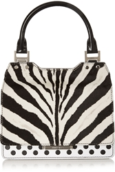Jimmy Choo Amie Zebra Print Calf Hair And Leather Tote