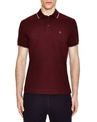 Z Zegna Pima Cotton Pique Slim Fit Polo Dark Red