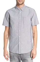 Obey Men's 'Dissent Trait' Trim Fit Short Sleeve Oxford Shirt