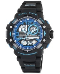 Armitron Men's Analog Digital Chronograph Black Resin Bracelet Watch 50Mm 20 5062Blu