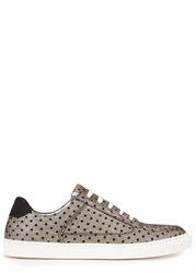 Rose Rankin Coney Polka Dot Suede Trainers Gold