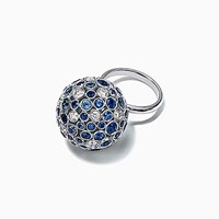 Tiffany And Co. Rings In Platinum 18K Rose Yellow Gold With Mixed Gemstones. Platinum 950 Sapphire Blue