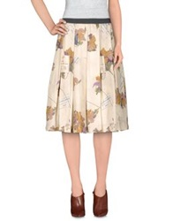 Erika Cavallini Semi Couture Erika Cavallini Semicouture Knee Length Skirts Beige