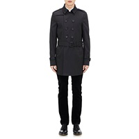 Gabardine Double Breasted Trench Coat Black