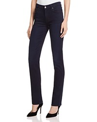 7 For All Mankind B Air Kimmie Straight Jeans In Blue Black River Thames