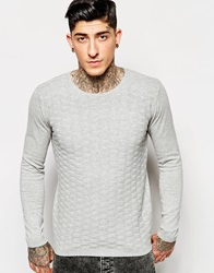 Minimum Jumper With Textured Knit Greymelange