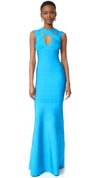 Herve Leger Cathryn Gown Turquoise