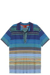 Missoni Striped Polo Blue