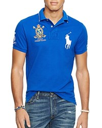 Polo Ralph Lauren Mesh Big Pony Relaxed Fit Polo Shirt Sapphire Star