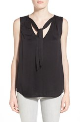 Women's Velvet By Graham And Spencer Sleeveless Tie Neck Top