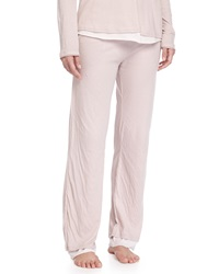 Double Layer Organic Knit Lounge Pants Tea Rose