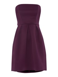Untold Fifties Style Strapless Dress With Dropped Hem Plum