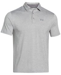 Under Armour Men's Playoff Performance Heather Golf Polo True Gray Heather