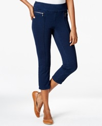 Style And Co. Petite Capri Jeggings Indigo Wash Only At Macy's