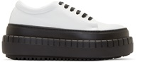 Acne Studios Black And White Saddy Platform Sneakers
