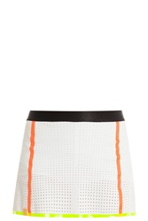 Monreal London Perforated Mini Skirt White