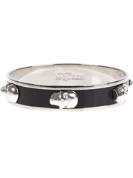 Alexander Mcqueen Skull Bangle Black