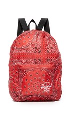 Herschel Packable Daypack Backpack Red Bandana