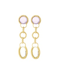 Roberto Coin Appass Amethyst And Lemon Quartz Drop Earrings